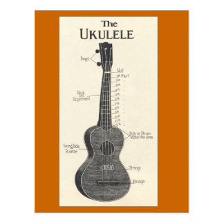 Die ukulele-Postkarte Postkarten