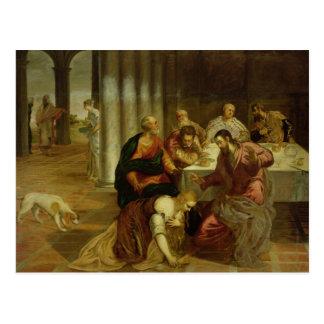 Die Umwandlung von Maria Magdalena, 1546-7 Postkarte