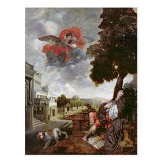 Die Umwandlung von St Augustine, c.1663 Postkarte