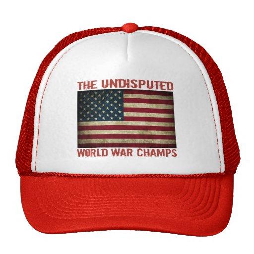 Die unbestrittenen Weltkrieg-Meister (beunruhigt) Baseball Mützen