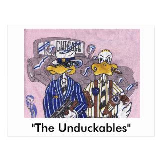 Die Unduckables Unberührbarer Postkarte