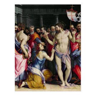 Die Ungläubigkeit von St Thomas, c.1547 Postkarte