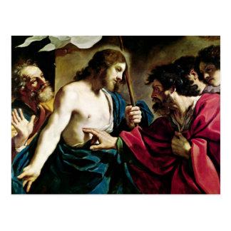 Die Ungläubigkeit von St Thomas Postkarte