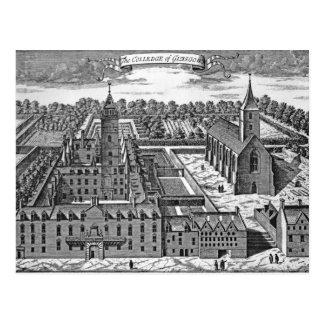 Die Uni von Glasgow, von 'Theatrum Postkarte