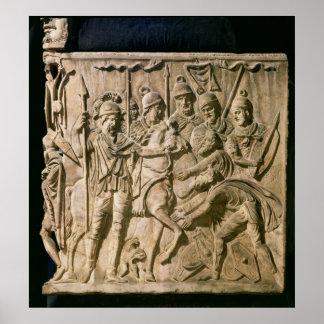 Die Unterordnung eines Barbaren zu einer römischen Poster