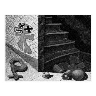 die Unterseite der Treppe Postkarte