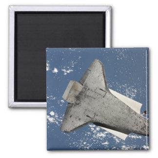Die Unterseite von Raumfähre Entdeckung 2 Quadratischer Magnet