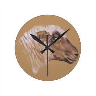 Die unwirschen Schafe Runde Wanduhr