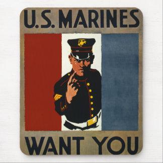 Die US-Marinesoldaten wollen Sie Mousepad