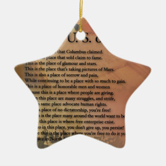 Die USA Präsidenten Poetry Art Gifts Keramik Ornament
