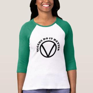 Die Vegans der Frauen verbessert es Baseball-T - T-Shirt