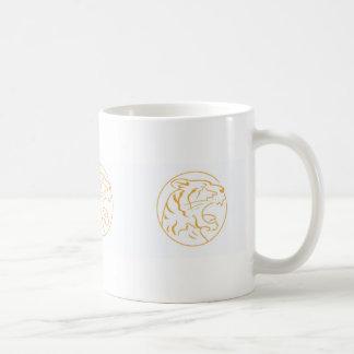 Die verärgerte orange Tiger-Tasse Kaffeetasse