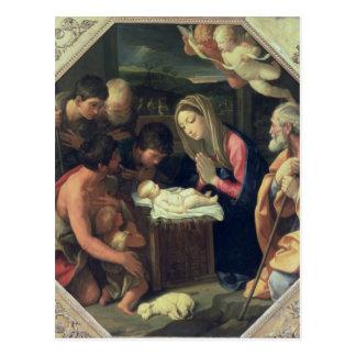Die Verehrung der Schäfer, c.1640-42 Postkarte