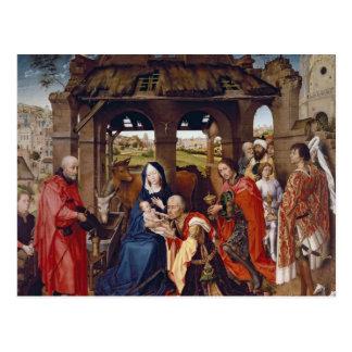 Die Verehrung der Weisen, c.1455 Postkarte