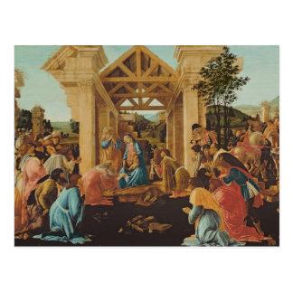 Die Verehrung der Weisen, c.1478-82 Postkarte