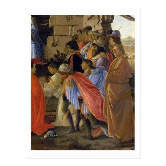 Die Verehrung der Weisen, Detail der Schilderung Postkarte