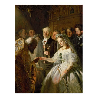 Die vereinbarte Heirat, 1862 Postkarten
