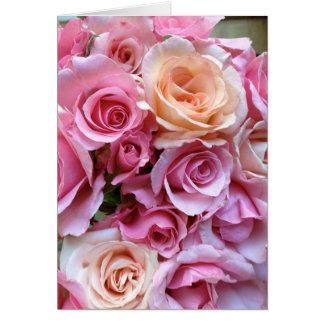 Die vereinbarten Rosen danken Ihnen Karte