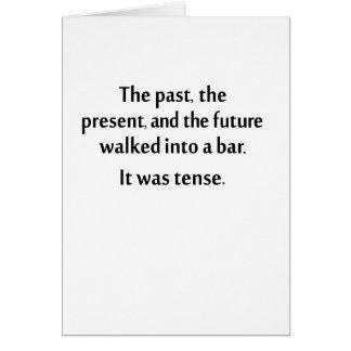 Die Vergangenheit, das Geschenk und die Zukunft Karte