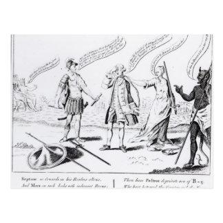 Die vergütete Feigheit oder der Teufel haben seins Postkarte