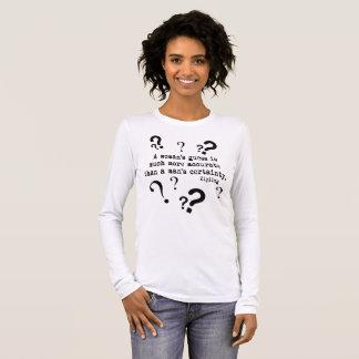 Die Vermutungs-langes Hülsen-T-Shirt einer Frau Langarm T-Shirt