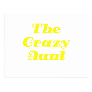 Die verrückte Tante Postkarte