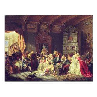 Die Versammlung unter Peter der Große Postkarte