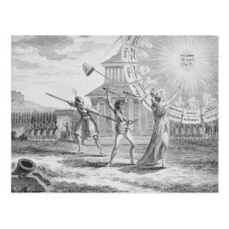 Die Verschwörung von Babeuf, Jahr 4 Postkarte