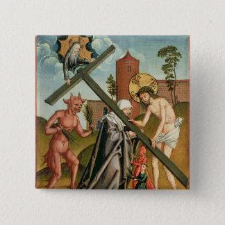Die Versuchung eines Heiligen Quadratischer Button 5,1 Cm