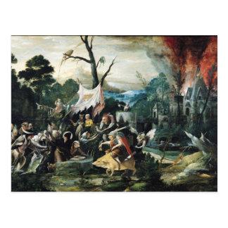 Die Versuchung von St Anthony 2 Postkarte
