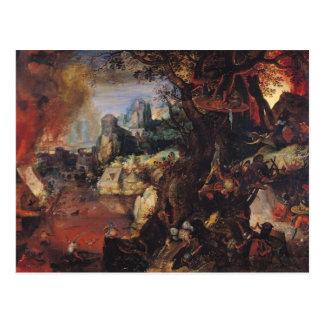 Die Versuchung von St Anthony 3 Postkarte