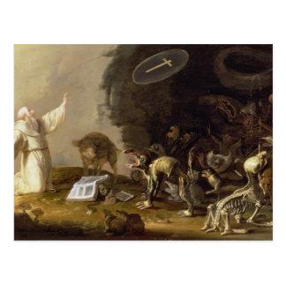 Die Versuchung von St Anthony (Platte) Postkarte