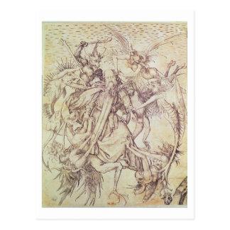 Die Versuchung von St Anthony (Stich) Postkarte