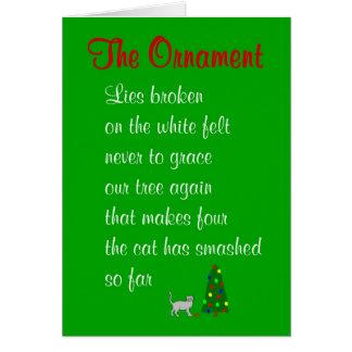 Die Verzierung - ein lustiges Weihnachtsgedicht Karte