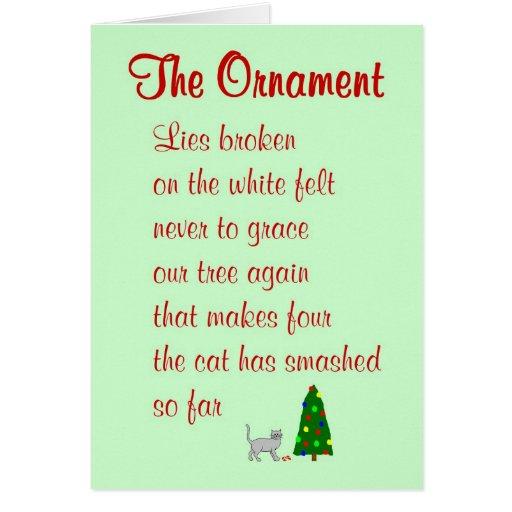Die Verzierung - ein lustiges Weihnachtsgedicht Grußkarte