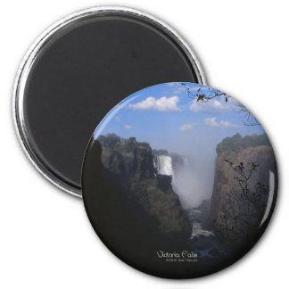 Die Victoriafälle 1 Runder Magnet 5,7 Cm