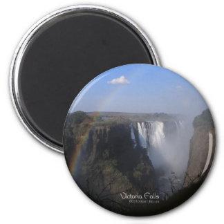 Die Victoriafälle 2 Runder Magnet 5,7 Cm