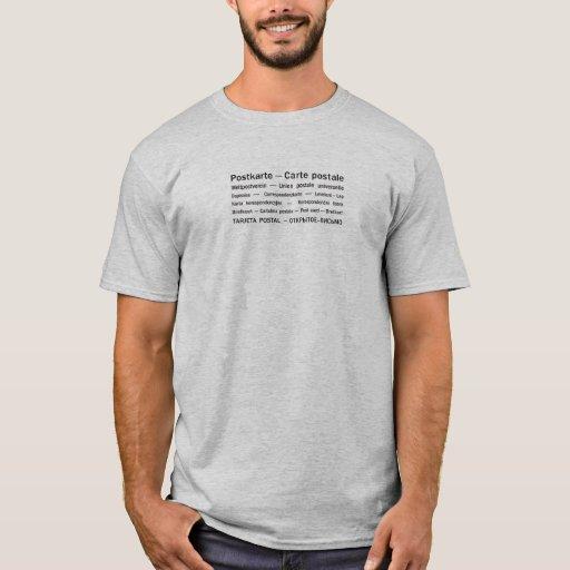 Die vielen Sprachen des Postkarten-T - Shirt