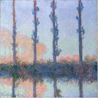 Die vier Bäume durch Claude Monet Fotoskulptur Button