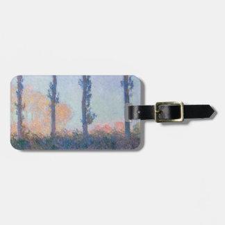 Die vier Bäume durch Claude Monet Kofferanhänger