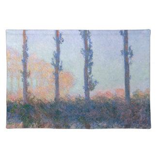 Die vier Bäume durch Claude Monet Stofftischset