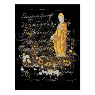 Die vier edlen Wahrheiten Postkarte