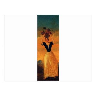 Die vier Jahreszeiten, Herbst durch Paul Cezanne Postkarte