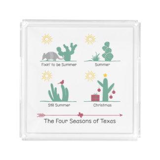 Die vier Jahreszeiten von Texasbehälter oder Acryl Tablett