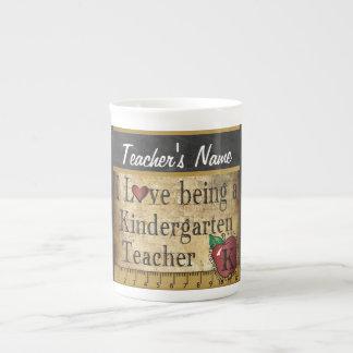 Die Vintage einzigartige Art der Kindergärtnerin Porzellantasse