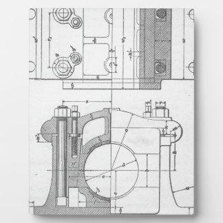 Die Vintage Grafik des industriellen Mechanikers Fotoplatte