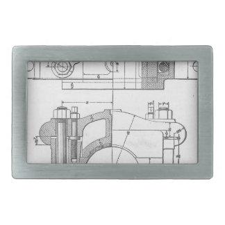 Die Vintage Grafik des industriellen Mechanikers Rechteckige Gürtelschnalle