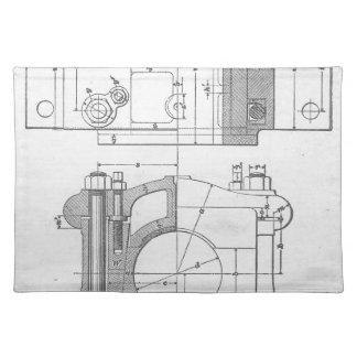 Die Vintage Grafik des industriellen Mechanikers Tischset