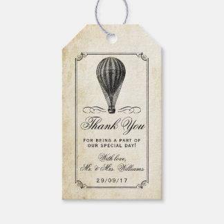 Die Vintage Heißluft-Ballon-Hochzeits-Sammlung Geschenkanhänger