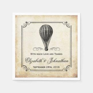 Die Vintage Heißluft-Ballon-Hochzeits-Sammlung Serviette